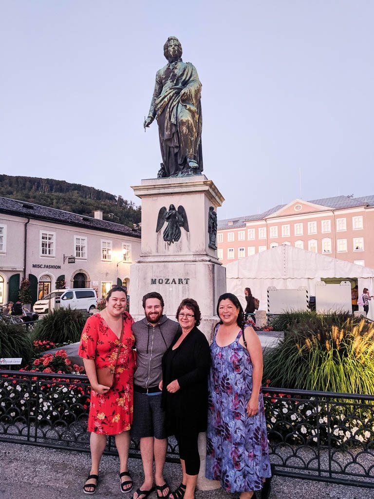 Salzburg Old Town - Mozart statue