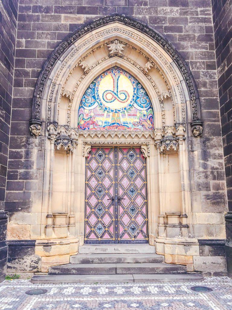 Church door at Vysehrad