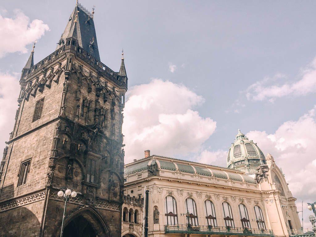 Prague city gate