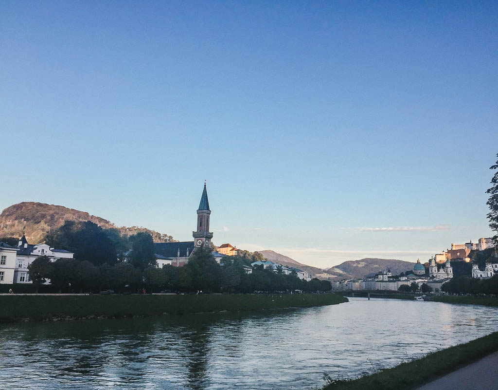 views over the Salzach River