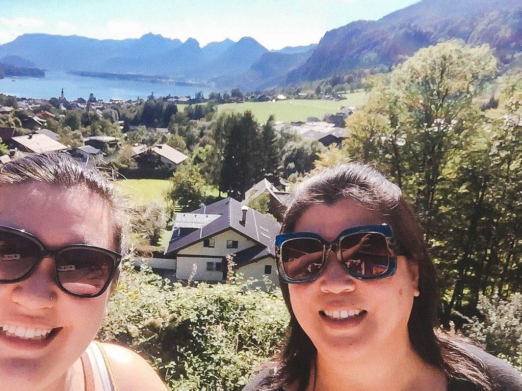 Me and mom at Salzburg Lake District