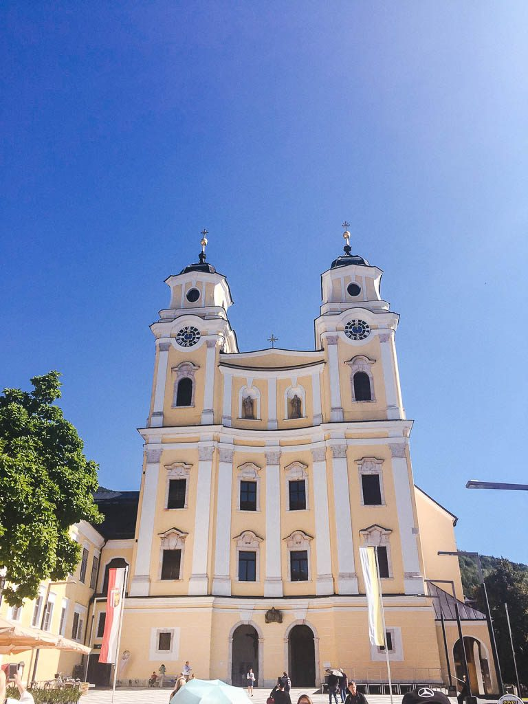 outside of Basilika St. Michael in Mondsee
