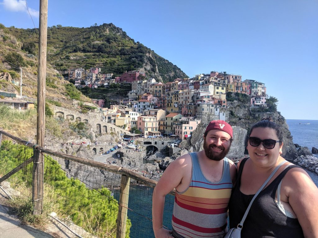 Colin and I at Manarola