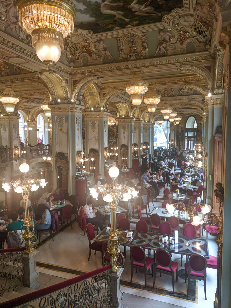 Lighting at the New York Cafe in Budapest