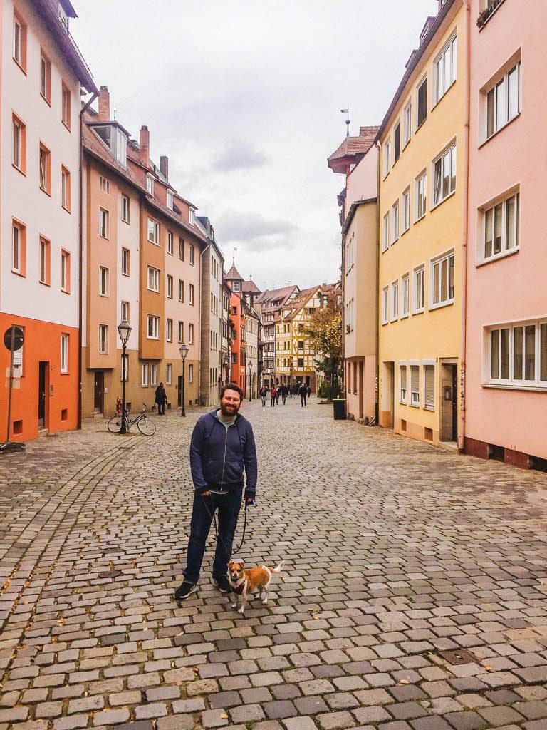 Colin and Ellie on Weissgerbergasse, Nuremberg