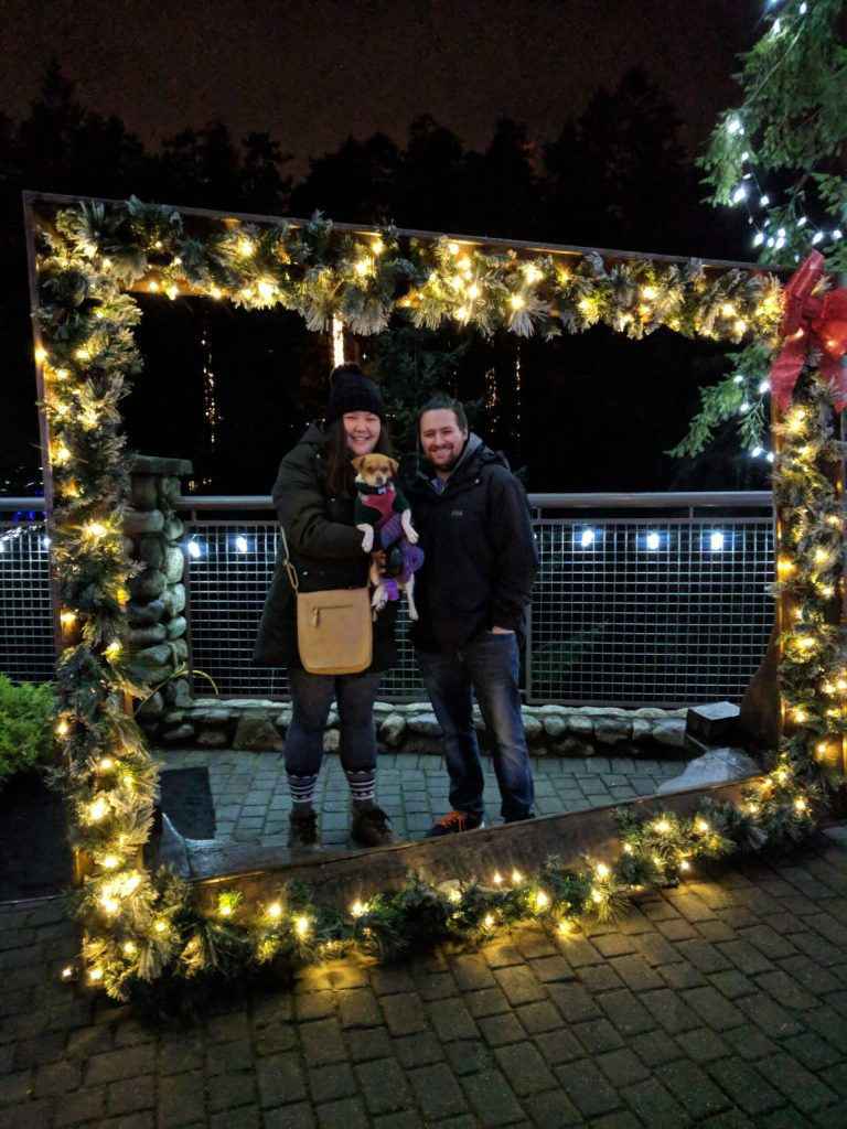 Christmas at the Vancouver Capilano Suspension Bridge