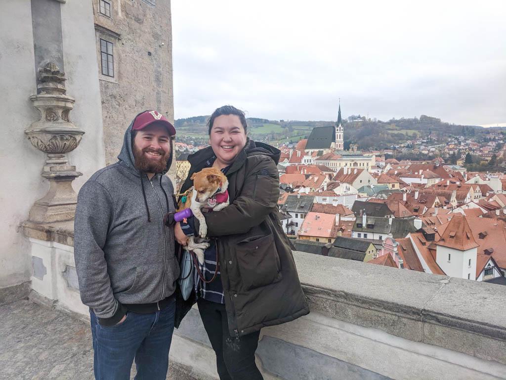 Selfie at the Cesky Krumlov Castle