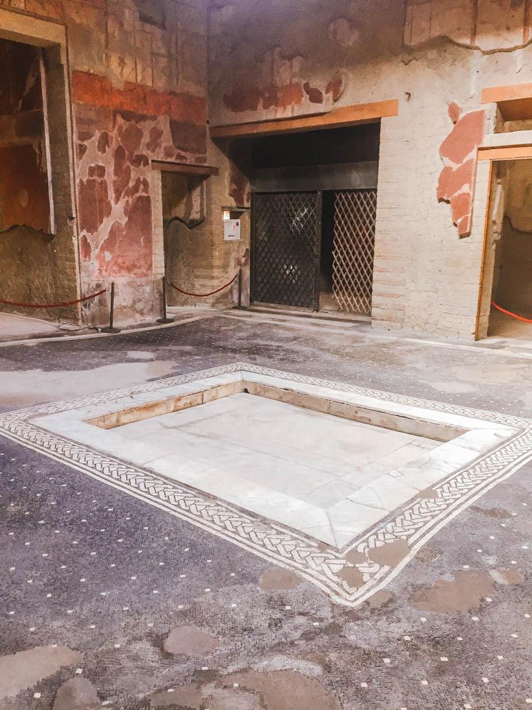 Tile work at Herculaneum