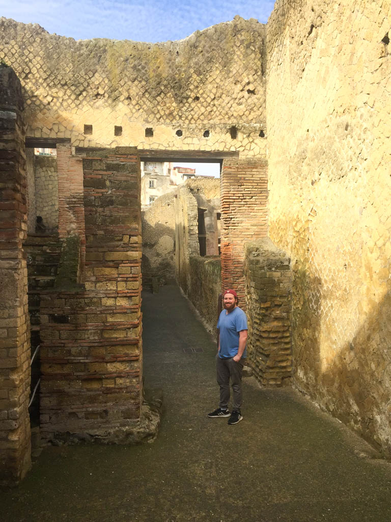 Colin at Herculaneum