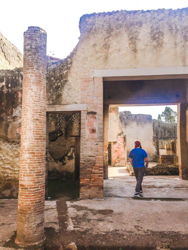 Colin at Herculaneum, Italy