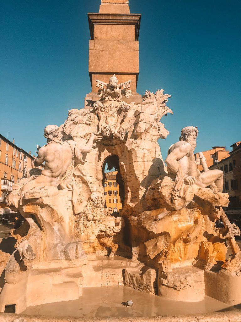 Fountain in Piazza Navona in Rome