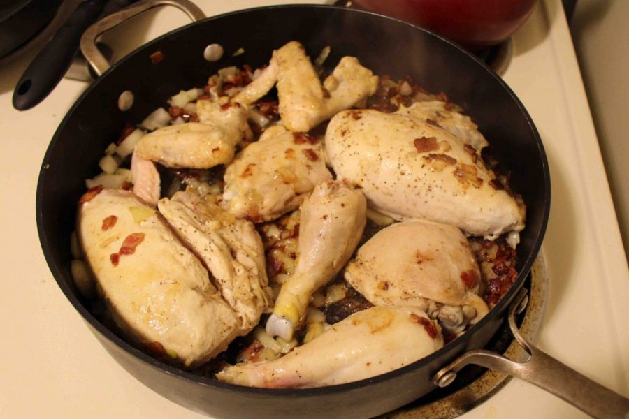Coq au vin is a fancy French dish that's surprisingly easy to put together!