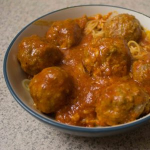 These mozzarella-stuffed meatballs are a killer dinner option!