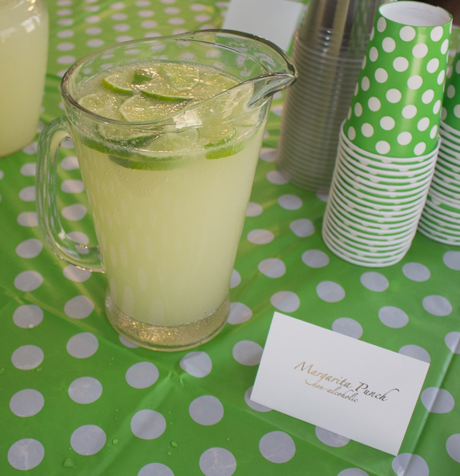 This margarita mocktail makes the perfect nonalcoholic punch drink for any shower or party!