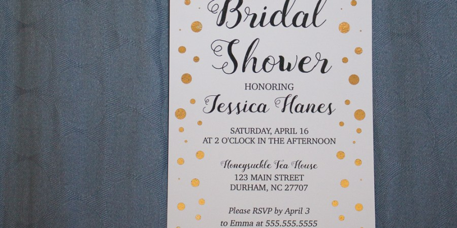 Bridal shower kit suite invitations