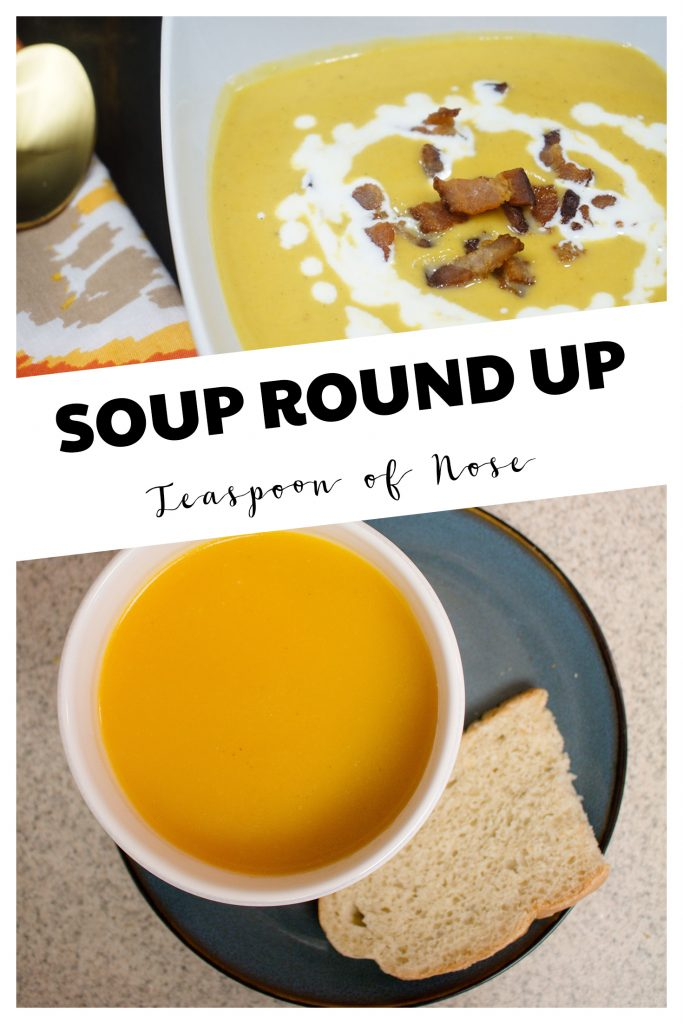As the weather cools, fall soups are the perfect thing! Here's a few of my favorite soups. | Teaspoon of Nose