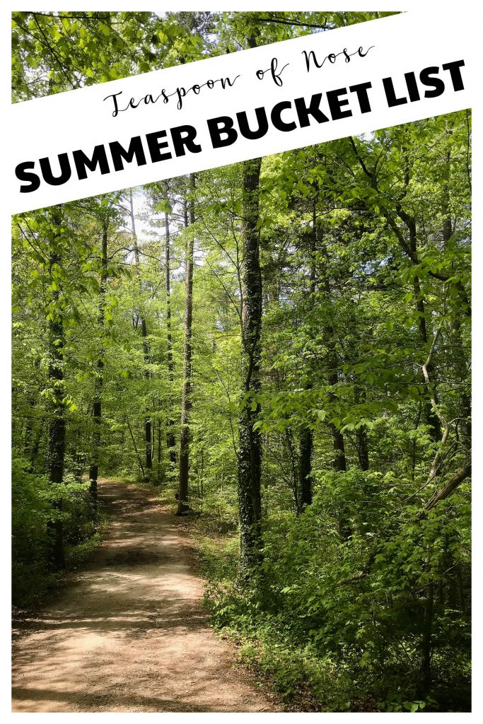Summertime is the perfect season for adventures - here's a summer bucket list! | Teaspoon of Nose