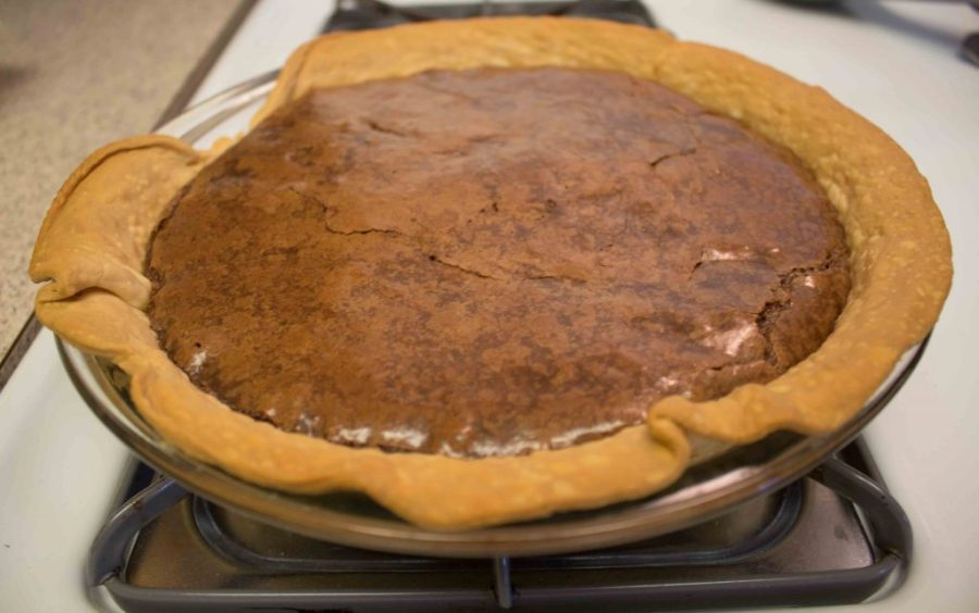 Chocolate Chess Pie is rich, decadent, and perfect for the holidays! | Teaspoon of Nose