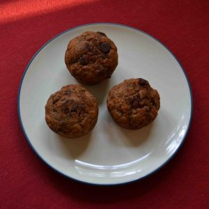 Chocolate chip banana muffins taste great and make for a delicious breakfast on the go!   Teaspoon of Nose