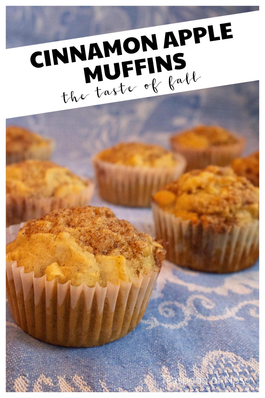 These cinnamon apple muffins make a great breakfast treat and are perfect for your next fall gathering!