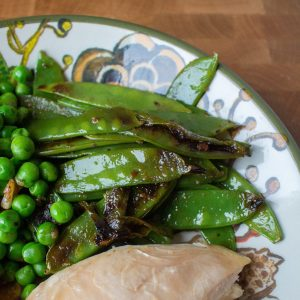 Ginger snow peas are the perfect quick side dish to any meal! Throw them together in 15 minutes for an effortless side dish..