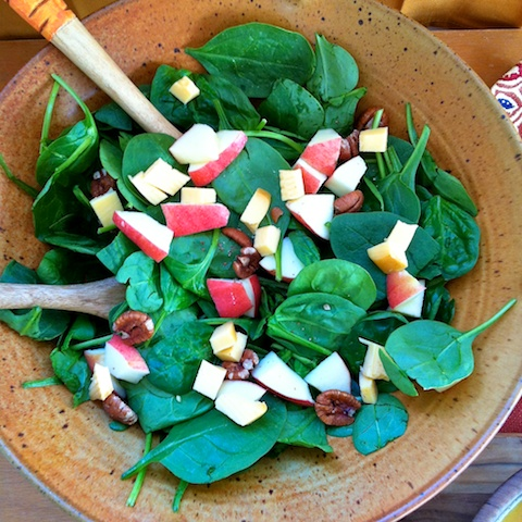 Fall Apple Gouda Pecan Salad