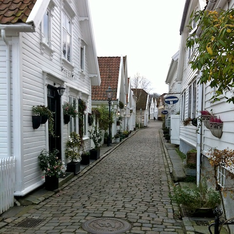 Old city section of Stavanger