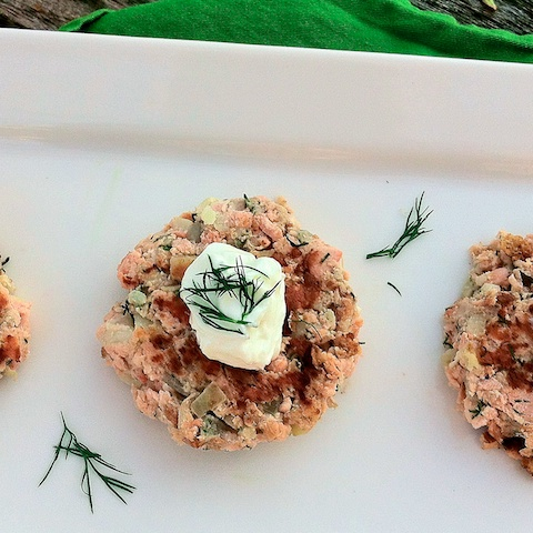 Norwegian Salmon Potato Cakes