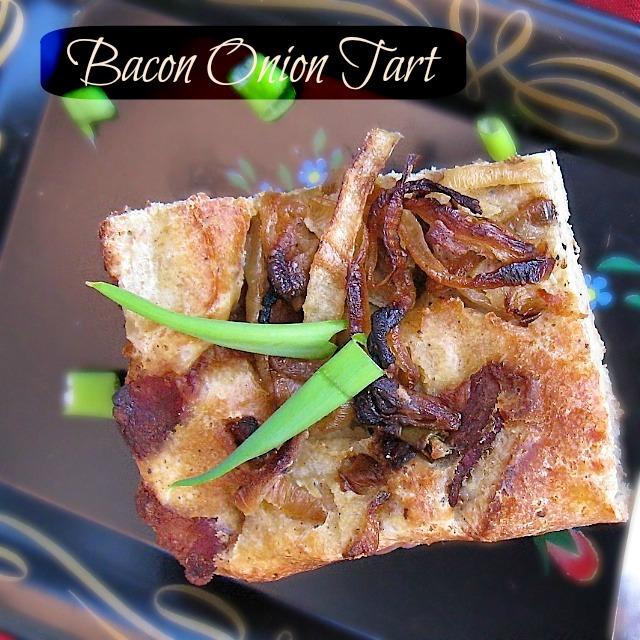 Bacon Onion Tart | Teaspoonofspice.com