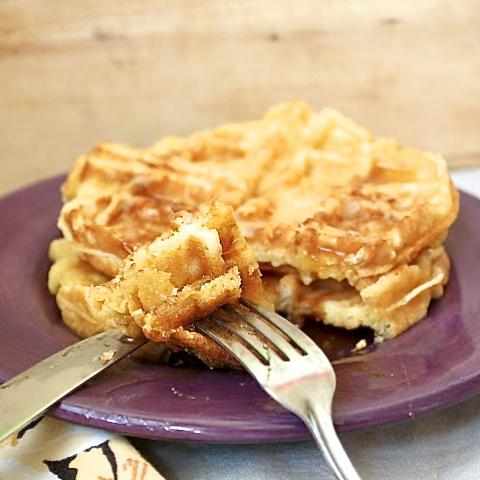 Potato Cheddar Waffles