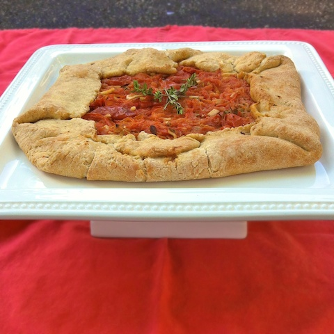 Roasted Tomato Crostata for #tomatolove