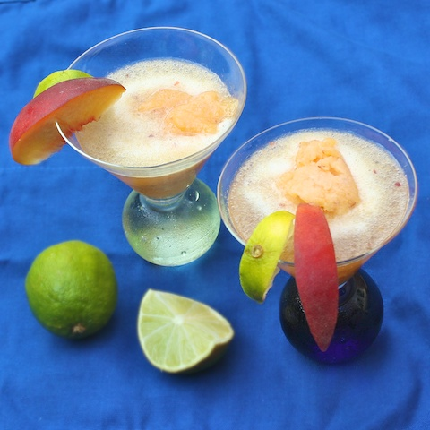 Peach Sorbet Prosecco Cocktail