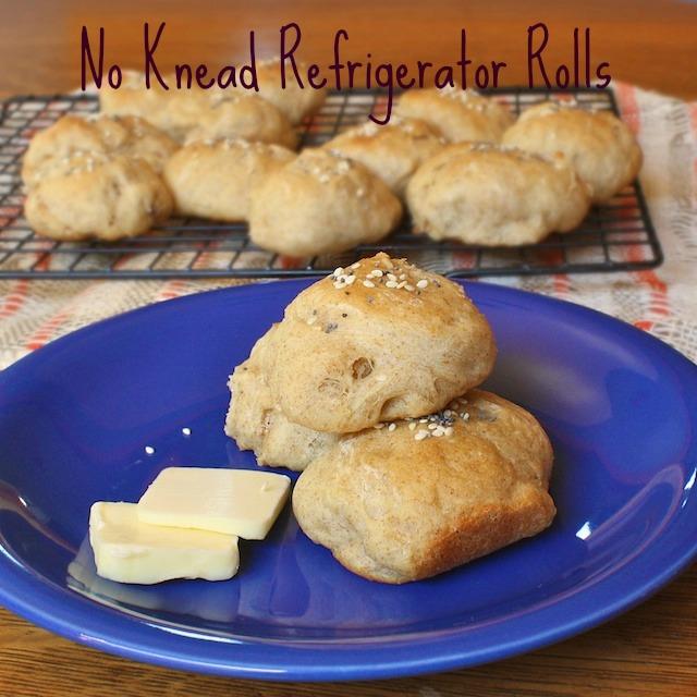 No Knead Refrigerator Rolls | TeaspoonofSpice.com