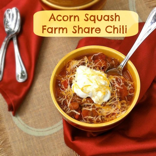 Acorn Squash Farm Share Chili | TeaspoonofSpice.com