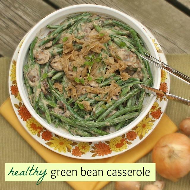 Healthy Green Bean Casserole | Teaspoonofspice.com