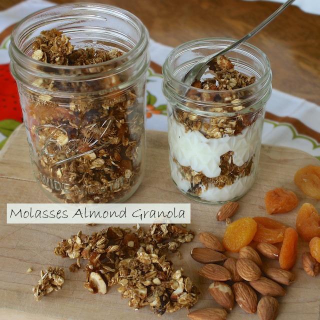 Molasses Almond Granola   Teaspoonofspice.com