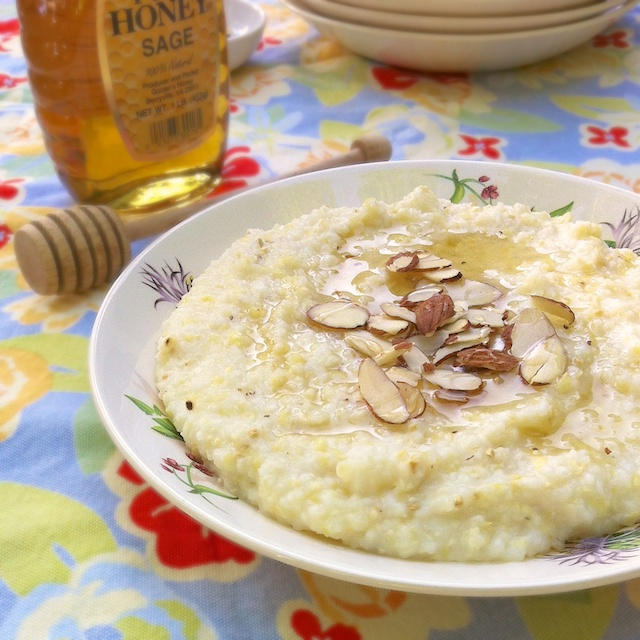 Honey Nut Breakfast Grits | Teaspoonofspice.com