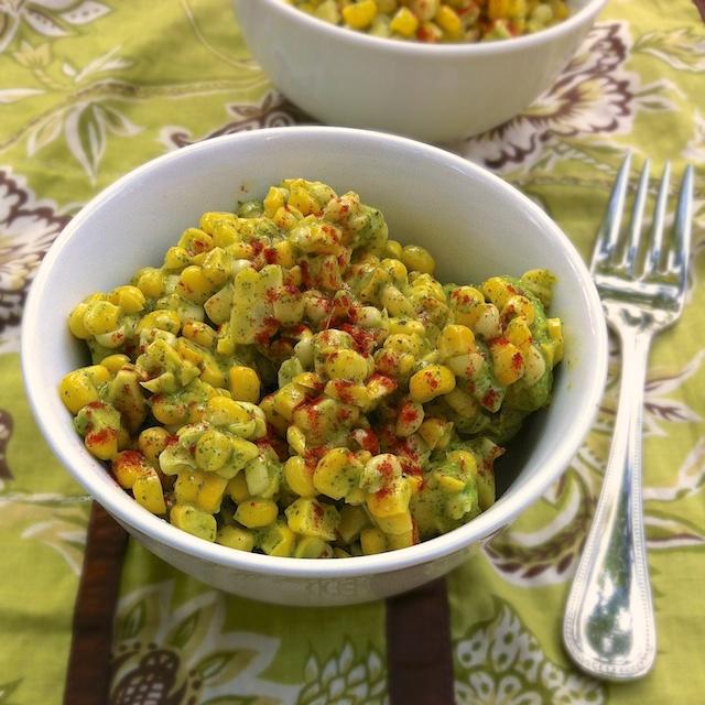 Corn Avocado Salad with Honey Lime Vinaigrette   TeaspoonofSpice.com