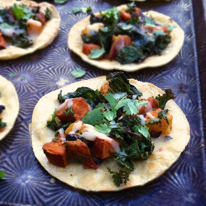 Sweetpotato & Kale Tostadas | Teaspoonofspice.com