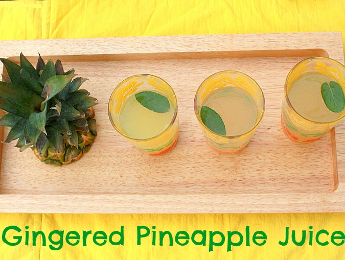 Pineapple Ginger Juice |Teaspoon Of Spice