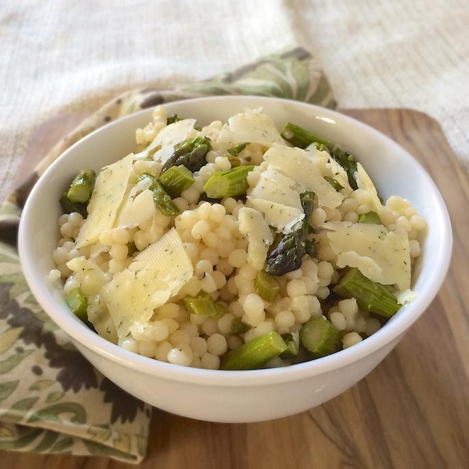Green Garlic Asparagus Couscous 2