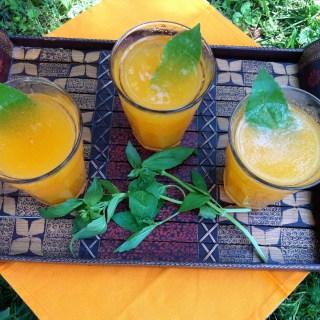 Cantaloupe Basil Agua Fresca Fizz | The Recipe ReDux