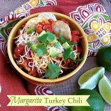 A mash-up of comfort food and Mexican drinks! Recipe at Teaspoonofspice.com #chili #turkeyrecipes #margaritas