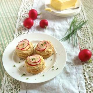 Salt Butter Radish Chive Biscuits | Teaspoonofspice.com