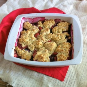 Red and Blue Berry Cobbler