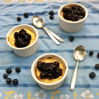 Baked Ricotta with Blueberries