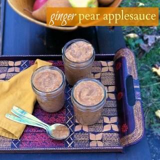 Ginger Pear Applesauce   TeaspoonofSpice.com