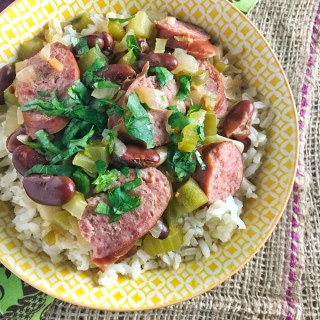 Here's a healthier upgrade to the classic New Orleans recipe: Red Beans and Brown Rice! - recipe at Teaspoonofspice.com