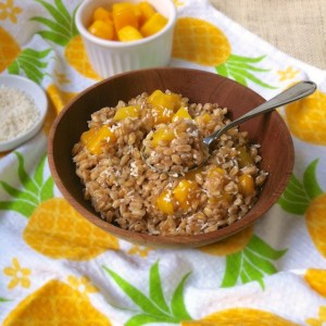 Tropical Breakfast Farro: Whole Grains Breakfast Recipe Roundup