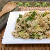 Coconut Ginger Chicken with Green Jasmine Rice | teaspooncomm.com/teaspoonofspice/